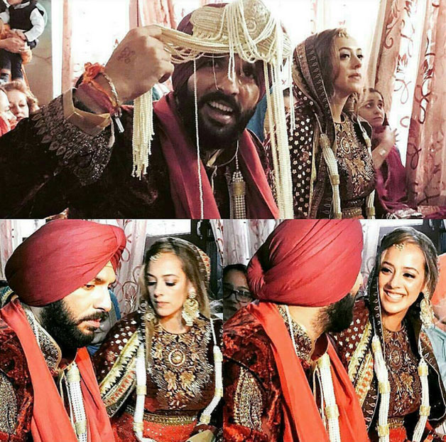 Cricketer Yuvraj Singh has finally ditched his bachelor tag as he tied the knot with Bollywood actress Hazel Keech yesterday in Punjab's Fatehgarh Sahib district. The wedding was solemnized as per Sikh traditional 'Anand Karaj' at a gurudwara which was decorated for this grand occasion. Traditional 'dholis' and singers were present outside the gurudwara as part of the wedding celebrations. Yuvraj-Hazel's wedding has been one of the much talked about weddings of the year and it was indeed a grand affair with entire cricket team marking its presence. The couple will be hosting a grand wedding reception in Delhi on December 7. Here's a look at the inside pics of Yuvraj-Hazel's wedding celebrations