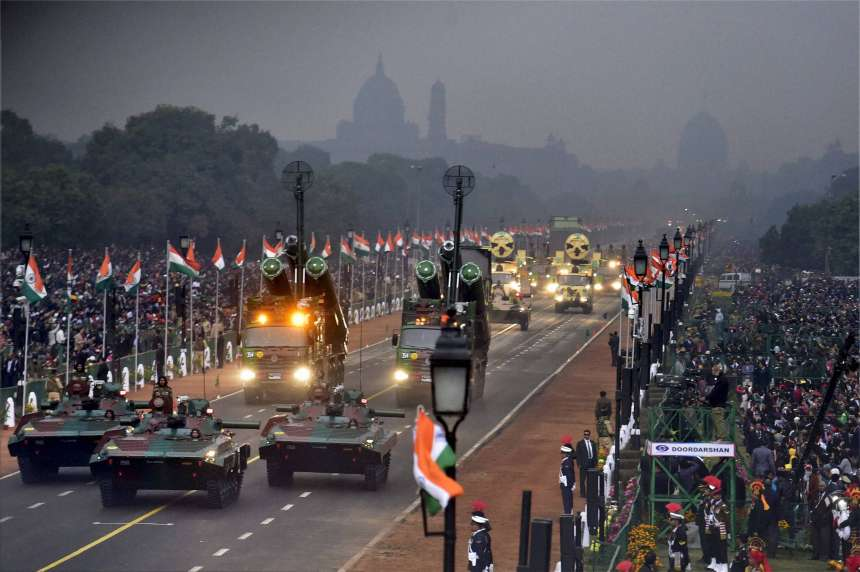 India is celebrating its 68th Republic Day today and the country's military might and diversity is at full display on the majestic Rajpath. The Republic Day Parade on Rajpath witnessed tableaux from 17 states and six ministries of the Union government. Here are the pictures:
