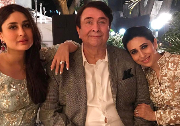 Veteran actor Randhir Kapoor yesterday turned 70 and his lovely daughters Kareena Kapoor Khan and Karisma Kapoor threw a grand party to celebrate their father's birthday. Many prominent faces from the industry including Rekha, Jeetendra, Ranbir Kapoor, Malaika Arora Khan graced the party.