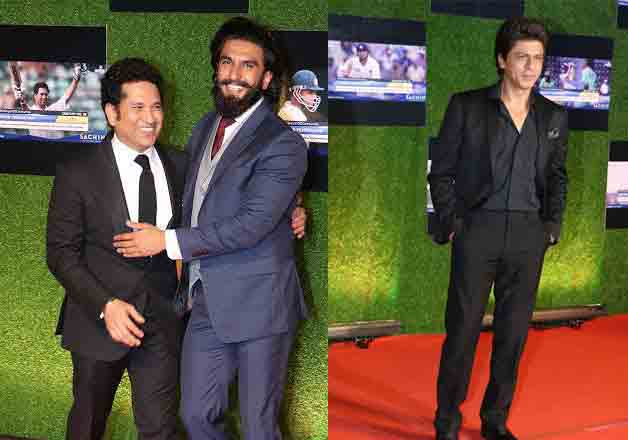 The grand premiere of Sachin: A Billion Dreams was organised yesterday and it was attended by many renowned personalities of cinema and cricket world. Here are some pictures from yesterday's event that show love of celebrities for Sachin Tendulkar.