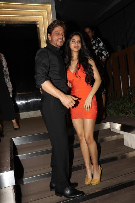 Family Love! Shahrukh Khan and Suhana Khan were all smiles during the opening of the restaurant. Their happiness and excitement could be seen in their smiles.