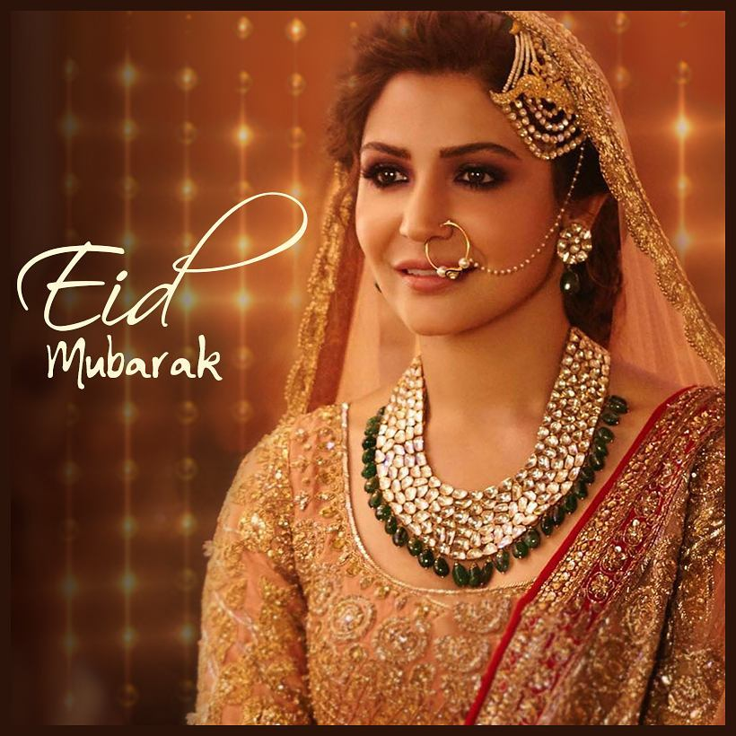 "Bollywood actress Anushka Sharma posted a still from her movie Ae Dil Hai Mushkil's song Channa Mereya on Instagram. She captioned the picture ""May the goodness and blessings of God be with you all. #EidMubarak to all."""