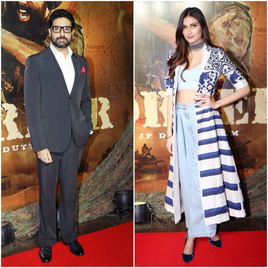 The 1997 movie Border turned 20 years today and, Abhishek Bachchan and Athiya Shetty made stylish appearances at the event.