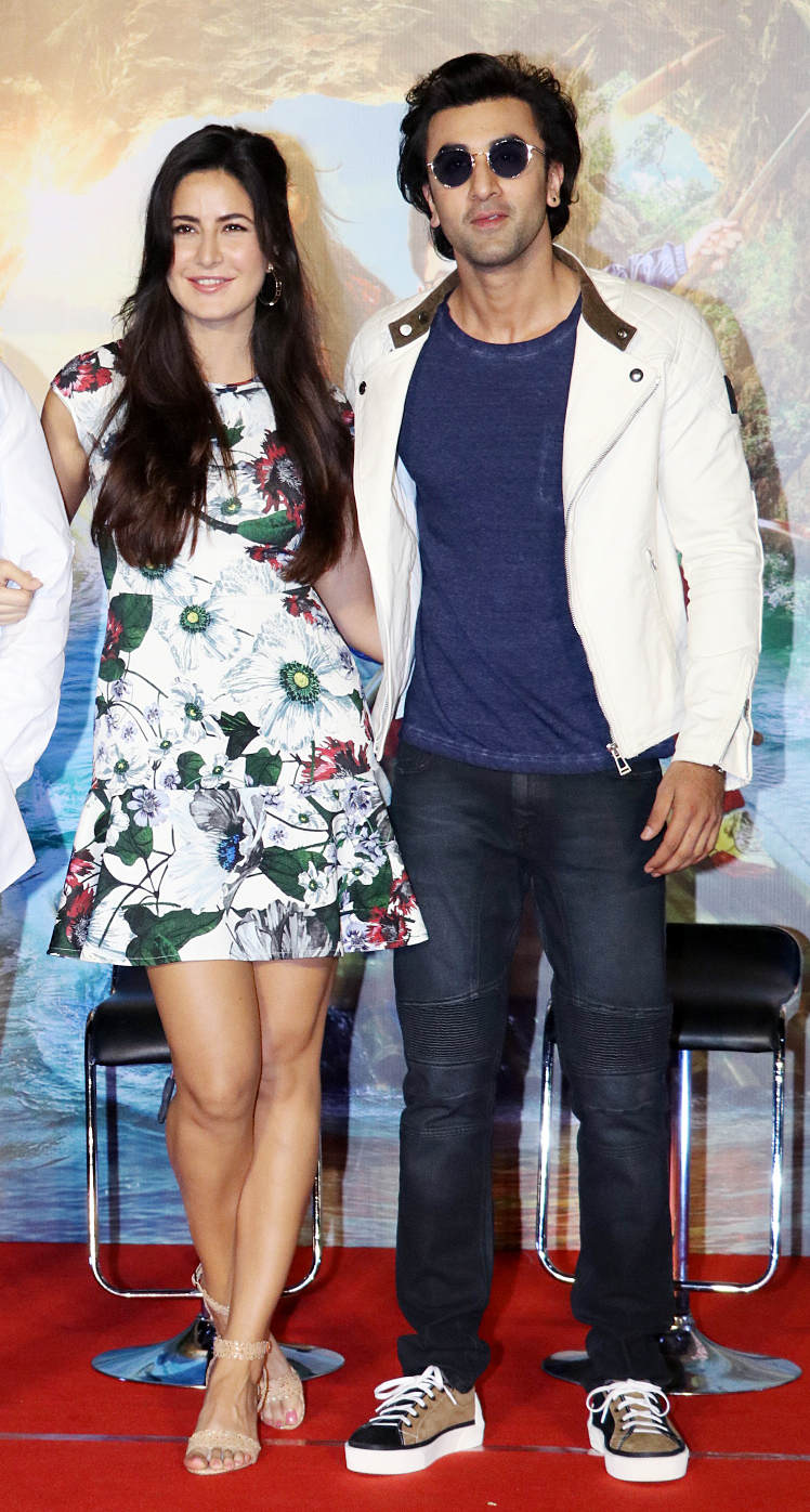 Ranbir Kapoor and Katrina Kaif were spotted in Mumbai at the song launch of their upcoming film Jagga Jasoos.