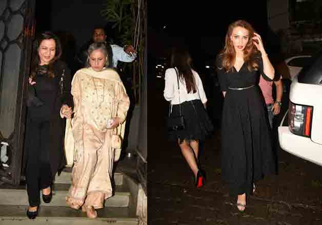 Actor Varun Dhawan's mother and filmmaker David Dhawan's wife Karuna Dhawan celebrated her birthday in Mumbai. The party was attended by many celebs including actress Jaya Bachchan and Salman Khan's rumoured lover Iulia Vantur.