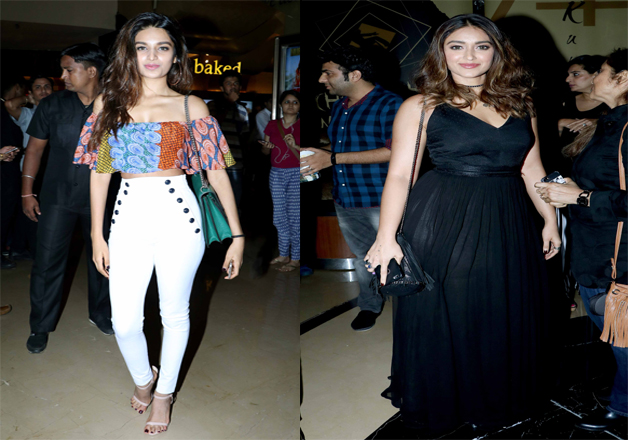 Special screening of Arjun Kapoor, Anil Kapoor, Athiya Shetty and Ileana D'Cruz starrer Anees Bazmee directorial Mubarakan was organised yesterday in Mumbai. Actress Nidhi Agerwal was spotted at the event.