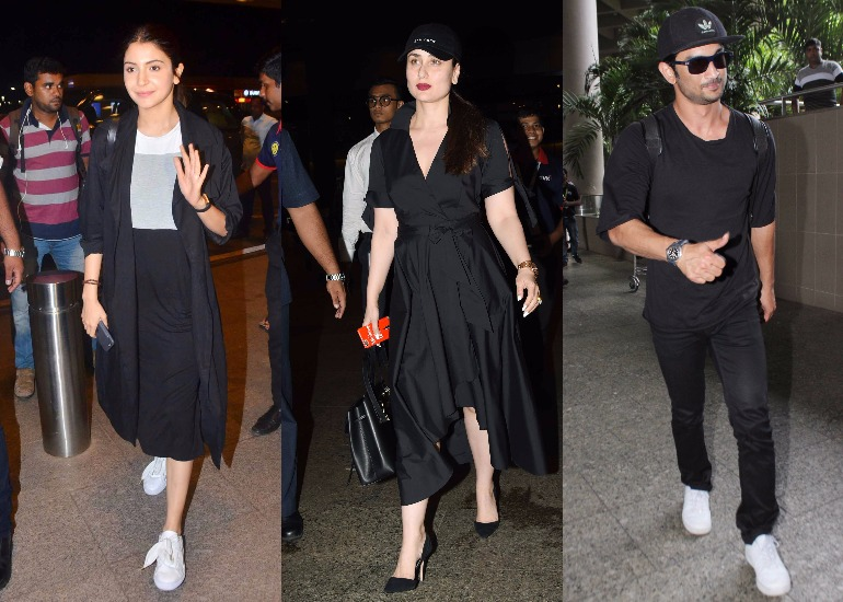 When we're talking about our beloved Bollywood celebrities, style can't go unmentioned. These famous personalities know how to carry themselves in panache, no matter where they are. Be it a couple of hours-long flight or a long drive, their fashion game is always on point. Recently, some of our favourite Bollywood celebrities have been spotted on Mumbai Airport. And guess what, all of them are dressed in black. Let's have a look who wore the blackest of black among all.