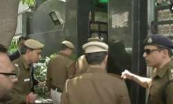 Police reach Kejriwal's residence to review CCTV footage.