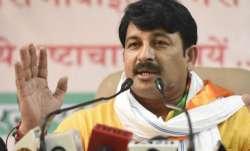 File pic of Delhi BJP president Manoj Tiwari