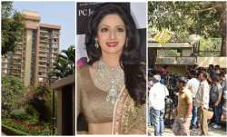 Sridevi death crowd gathers outside her Mumbai home