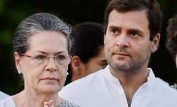 File photo of Sonia Gandhi with son Rahul.