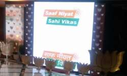 The BJP has coined a new slogan 'Saaf Niyat, Sahi Vikas'