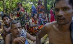 Rohingya Hindus in Bangladeshi refugee camp - File pic
