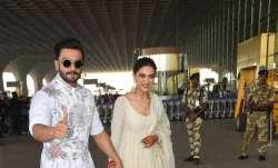 Deepika Padukone and Ranveer Singh were all smiles as they
