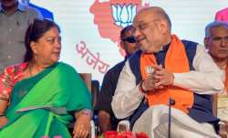 Former Chief Minister Vasundhara Raje and Amit Shah