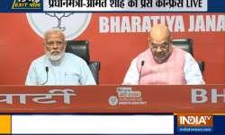 WATCH LIVE   PM Modi, Amit Shah address BJP press conference