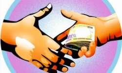 Representational image of accepting bribe