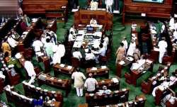 A view of Lok Sabha
