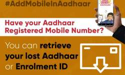 Retrieving lost or forgotten Aadhaar UID or Enrolment ID is