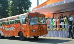 As a pilot project, six buses plying on Lucknow-New Delhi
