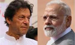Pakistan PM Imran Khan (left) and PM Narendra Modi