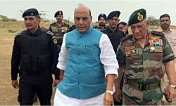 Defence Minister Rajnath Singh with Army Chief Bipin Rawat