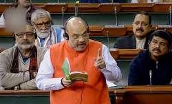 Amit Shah in Parliament