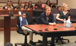The five-year-old was adopted by a couple in whose care he