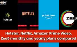 hotstar netflix amazon prime streaming services monthly yearly plan prices in india hotstar package,