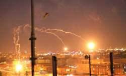 US EMbassy iraq baghdad hit by 3 rockets hit dining hall