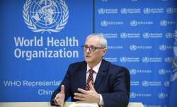 Dr. Gauden Galea, the World Health Organization (WHO) representative in China, speaks during an inte