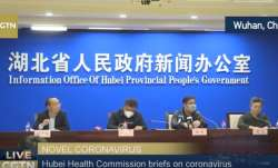 Coronavirus outbreak: Hubei Health Commission addresses media with masks on