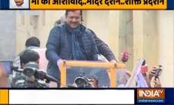 arvind kejriwal nomination, arvind kejriwal new delhi assembly seat, arvind kejriwal roadshow, arvin