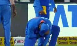 Rohit Sharma injures himself during 2nd ODI