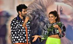 Sara Ali Khan and Kartik Aaryan at Love Aaj Kal trailer