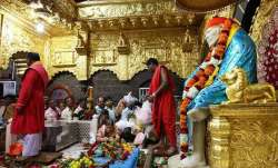 A file photo of the Shirdi temple from inside