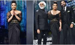 Priyanka Chopra is a vision in black as she walks the ramp in Mumbai (In Pics, Videos)