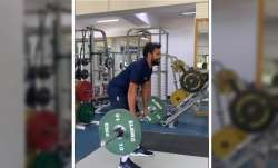 Recovery in process: Rohit Sharma lifts weight in Real Madrid jersey