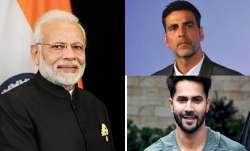 PM Modi praises Akshay Kumar, Varun Dhawan for their contribution to coronavirus relief fund