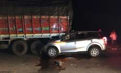 Five people killed, one injured after car rammed into truck in Gujarat