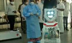Robotic nurses serve food, medicines to coronavirus