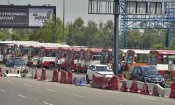A representational image of buses at the DND flyway (file