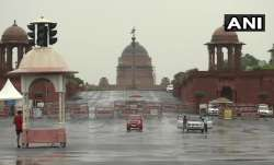 Rashtrapati Bhawan in the backdrop of Delhi Rains
