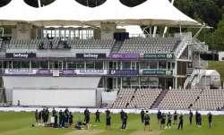 England huddle ahead of day one of the 1st #RaiseTheBat