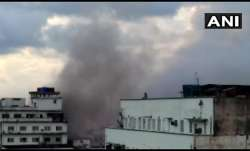 Massive fire breaks out at a building on Pollock Street in Kolkata