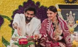 Rana Daggubati, wife Miheeka Bajaj perform Satyanarayan puja at home