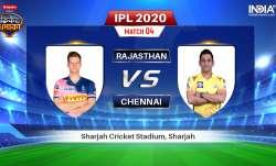 Rajasthan Royals vs Chennai Super Kings Live Streaming Cricket: Watch RR vs CSK IPL 2020 Stream Live