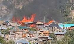 Himachal Pradesh: Massive fire in Kinnaur; 10 houses gutted