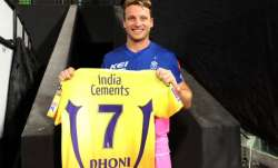 Jos Buttler receives MS Dhoni's jersey from 200th IPL game