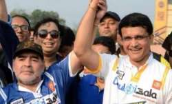Sourav Ganguly and Diego Maradona